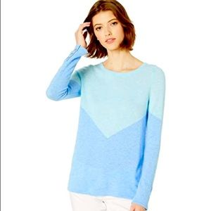 Lilly Pulitzer | Blue 100% Cashmere Sweater NWT